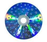 Wassertropfen auf CD-ROM Lizenzfreies Stockfoto
