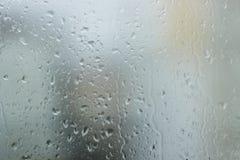 Wassertropfen auf dem Fenster Lizenzfreies Stockbild