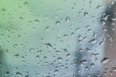 Wassertropfen auf dem Glas Stockfoto