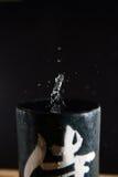 Wassertropfen auf einem Glas Stockfotos