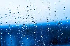 Wassertropfen auf Glas Lizenzfreie Stockfotografie