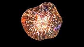 Wassertropfen mit Feuerwerksreflexion stockfotografie