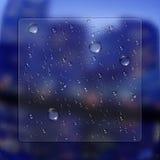 Wassertropfen mit Glaseffekt Stockfoto