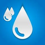 Wassertropfen - Papierschnittdesign Stockbilder