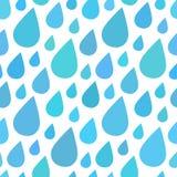 Wassertropfen, regnen nahtlosen Musterhintergrund Lizenzfreie Stockbilder