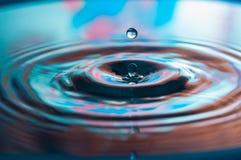 Wassertropfen und -kräuselungen Lizenzfreie Stockbilder