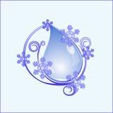 Wassertropfen und Schneeflocke stock abbildung