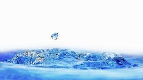 Wassertropfen und -spritzen Lizenzfreies Stockbild