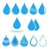 Wassertropfen-Vektorillustration Schablone für Logodesign Stockfoto