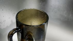 Wassertropfenbratenfett stock video
