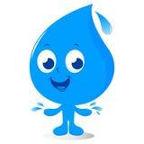 Wassertropfencharakter Lizenzfreies Stockfoto