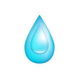 Wassertropfenikone, Illustration vektor abbildung