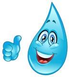 Wassertropfenkarikatur Lizenzfreie Stockbilder