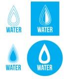 Wassertropfenlogo Lizenzfreie Stockfotos