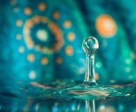 Wassertropfenspritzen Stockfoto