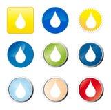 Wassertropfenweb-Taste stock abbildung