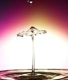 Wassertropfenzusammenstoß Lizenzfreie Stockfotos