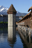 Wasserturm and the Chapel Bridge in Lucerne Royalty Free Stock Photography