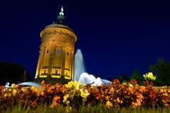 Wasserturm em mannheim - Alemanha Foto de Stock Royalty Free