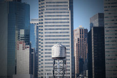 Wasserturm in Manhattan-Finanzbezirk New York City Lizenzfreies Stockfoto