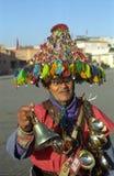 Wasserverkäufer, Marrakesch, Marokko Stockfotografie