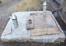 Wasserversorgungssystem Hydraulischer Akkumulator, Wasserpumpe und andere Ausrüstung Wasserpumpe für Brunnenanlage Lizenzfreie Stockfotos