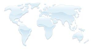 Wasserweltkartenabbildung Lizenzfreies Stockbild