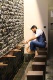 Wassing, Moslims in het gebied van de moskeewassing Royalty-vrije Stock Afbeeldingen