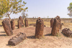 Wassu in gambia. The Wassu laterite stone circles in The Gambia royalty free stock photos