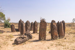 Wassu in gambia. The Wassu laterite stone circles in The Gambia stock images
