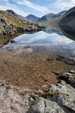 Wast水和湖区惊人的风景在Summ锐化 库存照片