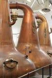 Wast-Stille werden in der Destillation des schottischen Malz-Whiskys benutzt Lizenzfreie Stockbilder