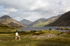 Wast water in english lake district Royalty Free Stock Images