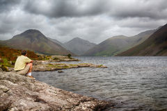 Wast water in english lake district Stock Images