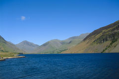 Wast Water with Great Gable, Lingmell and Scafell Pike Stock Images