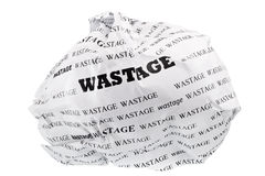 Wastage is also a loss of Stock Images