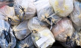 Waste bags Royalty Free Stock Image