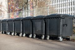 Waste barrel Stock Image