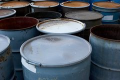 Waste Barrels Stock Images
