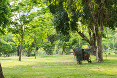 Waste Baskets in the Park Royalty Free Stock Image