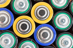 Waste batteries Royalty Free Stock Image