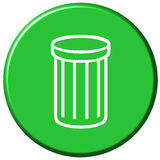 Waste Bin Button Stock Images