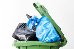 Waste bin top Royalty Free Stock Photos