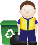 Waste binman Royalty Free Stock Photography