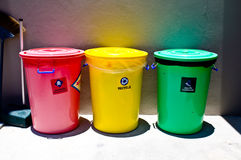 Waste bins. Royalty Free Stock Image