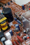 Waste of board electronics, microcircuits, capacitors Royalty Free Stock Photo