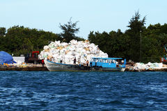 Waste boat Stock Photography