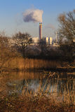 Waste burning refinary Royalty Free Stock Photography