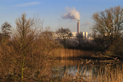 Waste burning refinary landscape Stock Photography