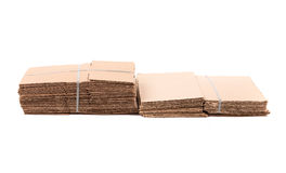 Waste cardboard bundle for recycling Royalty Free Stock Image